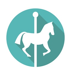 Carousel icon vector