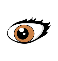 cartoon eyes comic expression vector image