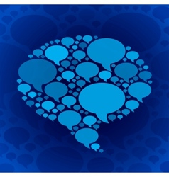 Chat bubble symbol on blue background vector image