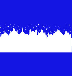 christmas banner of a street town with falling vector image