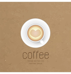 coffee cup against paper background vector image