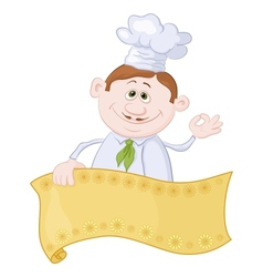 Cook with poster vector image vector image