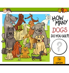 Counting activity with dogs vector