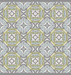 cute geometric pattern seamless vintage tiles vector image