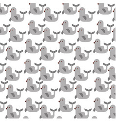 Cute seal pattern background vector