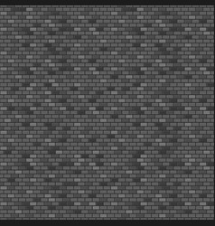 dark brick wall seamless pattern vector image