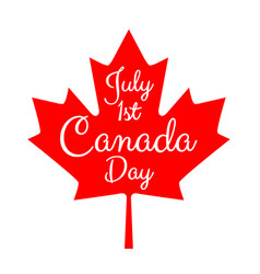 day of canada vector image vector image