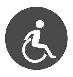 Disability human chair symol vector