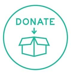 Donation box line icon vector