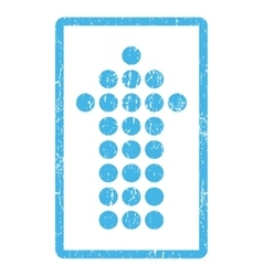 Dotted Arrow Up Icon Rubber Stamp vector