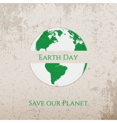 Earth Day paper Banner Template vector image