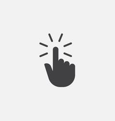 finger clicking icon hand pointer vector image