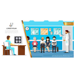 flat healthcare concept vector image