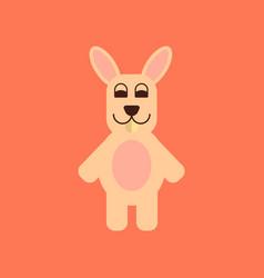 Flat icon stylish background rabbit bunny vector