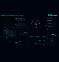 Futuristic user interface design element set 03 vector