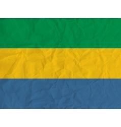 Gabon paper flag vector image
