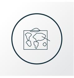 Geography icon line symbol premium quality vector