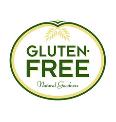 gluten-free natural goodness logo vector image