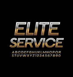 Gold badge elite service with creative chic vector