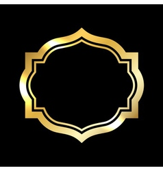 Gold frame Beautiful simple golden black design vector