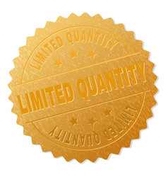 Gold limited quantity award stamp vector