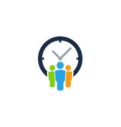 Group time logo icon design vector