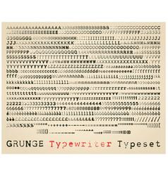 Grunge typewriter typeset vector