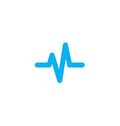Heart beat cardiogram life line icon stock vector