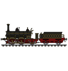 Historical black steam locomotive vector