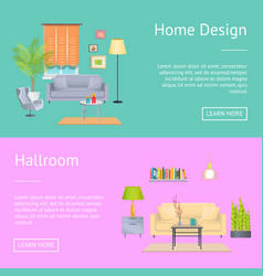 Home design and hallroom on vector