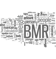 How to calculate bmr vector