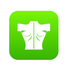 human back icon digital green vector image