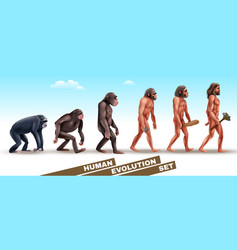 Human evolution characters set vector