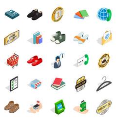 impresario icons set isometric style vector image