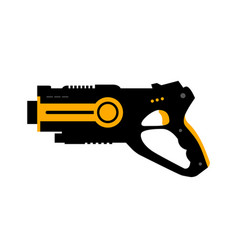 laser tag gun game icon laser tag vector image