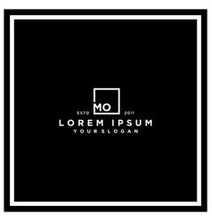 Letter mo square logo design vector