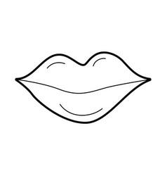 lips of woman makeup lipstick cartoon vector image vector image