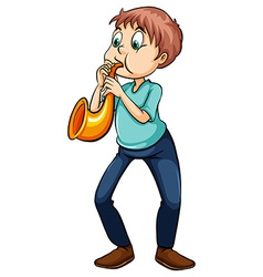 Man playing with the trumpet vector image