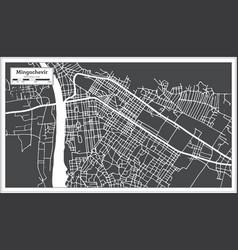 Mingachevir azerbaijan city map in black vector