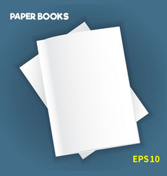 mock-ups of paper books-11 vector image