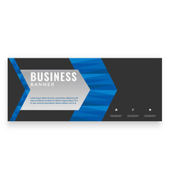 modern blue arrow design business banner im vector image
