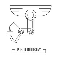 modern line style with robotic industry vector image