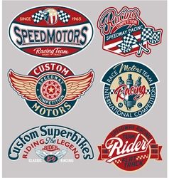 Motor patches collection vector