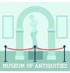 Museum Of Antiquities Poster vector