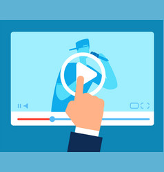 online teacher streaming tutorial education vector image