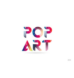 Pop art colored rainbow word text suitable for vector