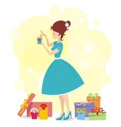 Present for woman 01 vector image