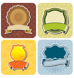 product label design set vector image