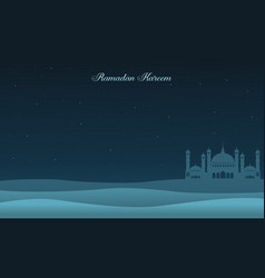 Ramadan kareem banner style collection vector