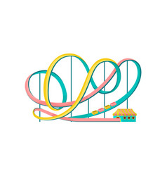 Roller coaster amusement park element vector